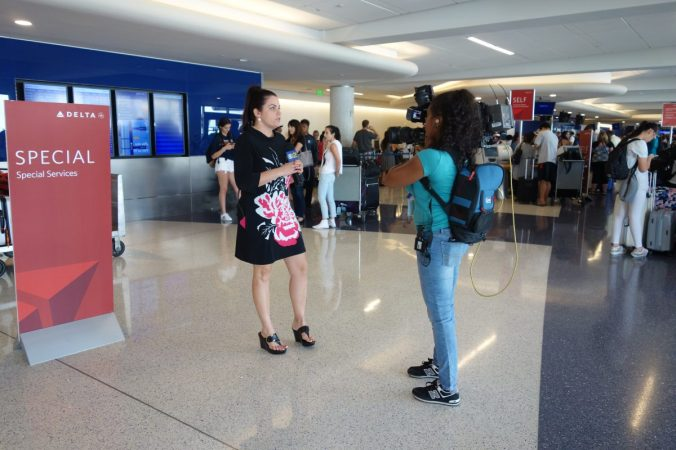 The news channels were present documenting the debacle. Several couples were trying to go on honeymoon but were stranded.